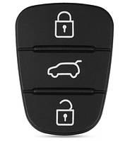 Резиновые кнопки-накладки на ключ KIA Sportage (КИА Спортейдж) симметрия