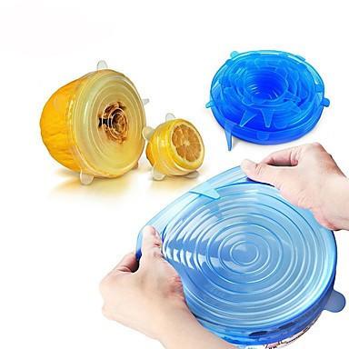 Силиконовые универсальные крышки Super stretch silicone lids