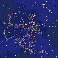 """Картина по номерам Идейка """"Звездный знак Стрелец"""" с краской металлик 50х50см KH9511"""