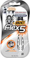 Одноразовые бритвенные станки BIC Flex 5 (3шт.)