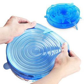 Силиконовые универсальные крышки Super stretch silicone lids, фото 2