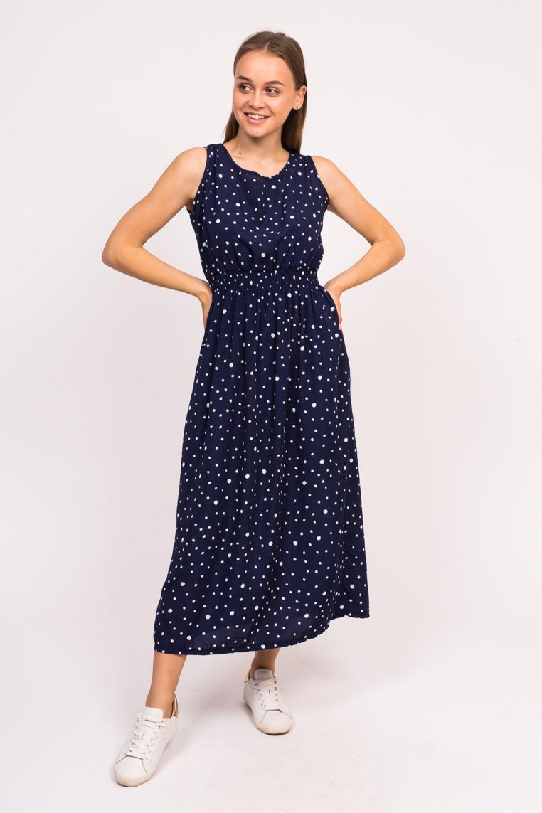 Длинное летнее платье LUREX - синий цвет, L (есть размеры)