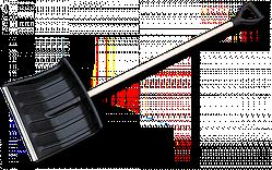 Лопата для уборки снега 40 см с деревянным черенком, KT-CXBR40