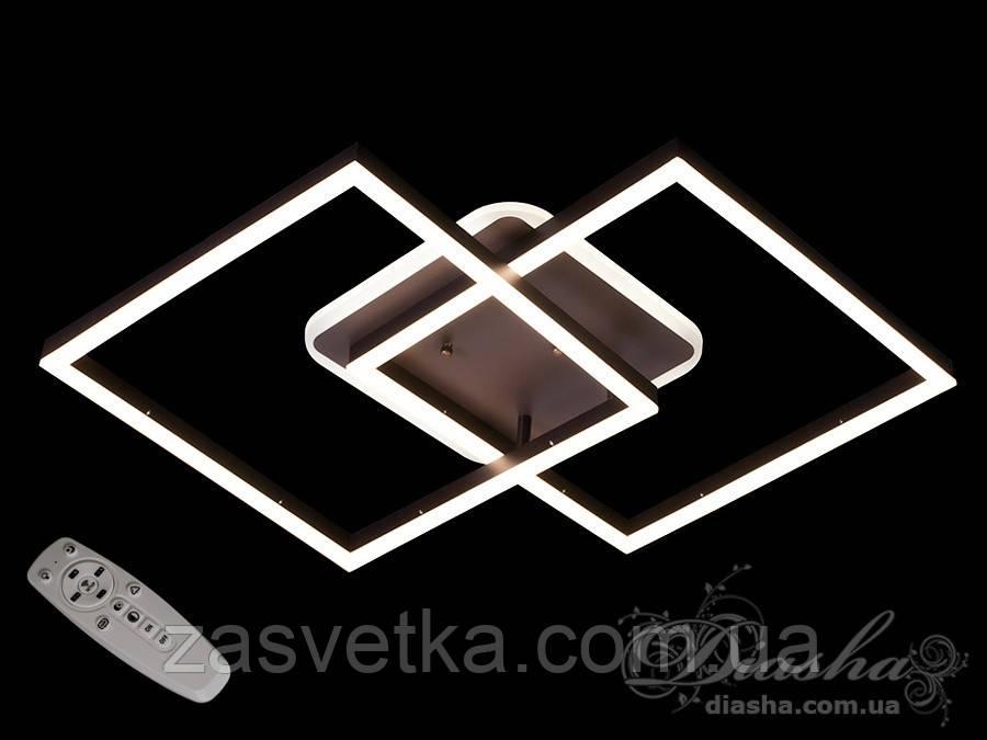 Потолочная LED-люстра с диммером и подсветкой, 85W A3005/2CF LED dimmer (коричневый)