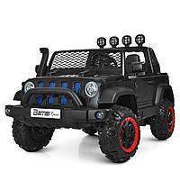 Детский двухместный электромобиль Джип Bambi M 4061EBLR-2 черный