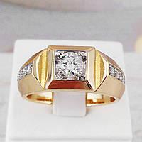 Печатка мужская Xuping Jewelry размер 20, медицинское золото, позолота 18К + родий. А/В 3168