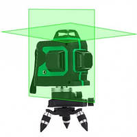 Лазерный уровень нивелир 3D 12 линий со штативом 5179, зеленый