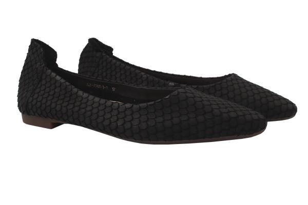 Туфли комфорт Berkonty нубук, цвет черный
