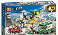 """Конструктор Bela """"Citles"""" (10864) Ограбление у горной речки, 409 деталей - Аналог Lego City (Лего Сити) 60175"""