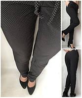 Летние женские брюки штаны молодежные Султанки А17 горошок на черном