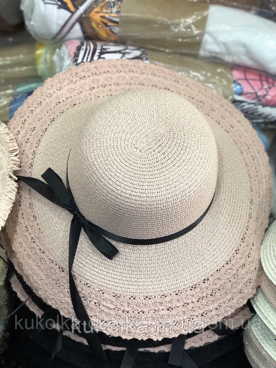 Шляпа летняя пудровый цвет