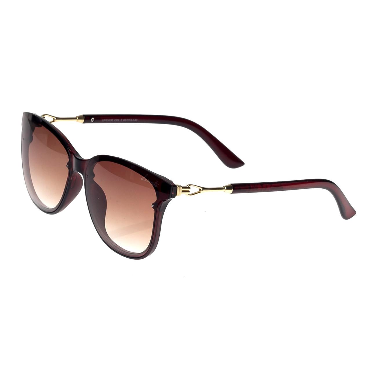 Солнцезащитные очки  Женские цвет Коричневый Luoweite оправа-пластик, линза-поликарбонат ( 5030-02 )