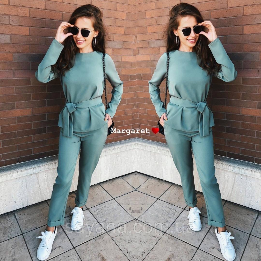 Женский костюм: кофта и укороченные брюки в расцветках. БЛ-6-0519