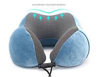 Подушка LSM для путешествий 30х28х12 темно синяя ( 195-1)