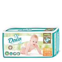 Подгузники (Дада) Dada extra soft 3 midi (54 шт) 4-9 кг