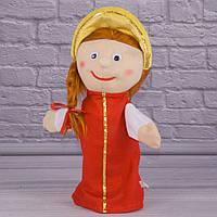 Игрушка рукавичка для кукольного театра Василиса, кукла перчатка на руку