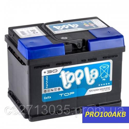 Автомобильный аккумулятор Topla top 62 Ач 600 А (0) R+ h=175мм