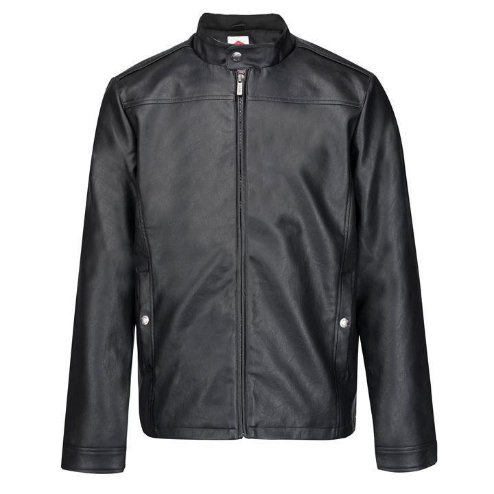 Мужская куртка из эко кожи Lee Cooper черная оригинал J0032/32