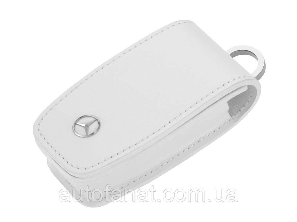 Оригинальный кожаный футляр для ключей Mercedes-Benz Key Wallet, Gen. 6, White (B66958409)