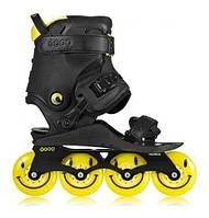 Ролики Doop Freestyle 2 Skates Black/Yellow Skates (43-48, Желтый)