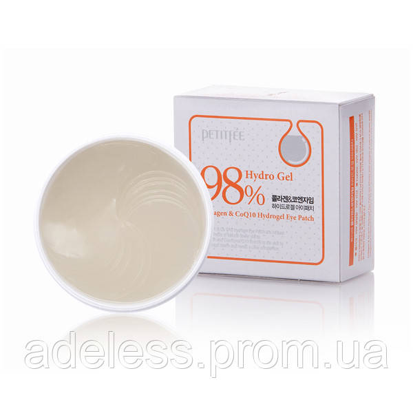 Гидрогелевые патчи для глаз с коллагеном и коэнзимом Petitfee Collagen & Co Q10 Hydrogel Eye Patch, 60 шт