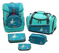 Рюкзак Deuter OneTwoSet - Sneaker Bag  с набором школьных принадлежностей (Синий petrol horse)