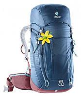 Рюкзак Deuter Trail Pro 34 (Серо-красный midnight-maron)