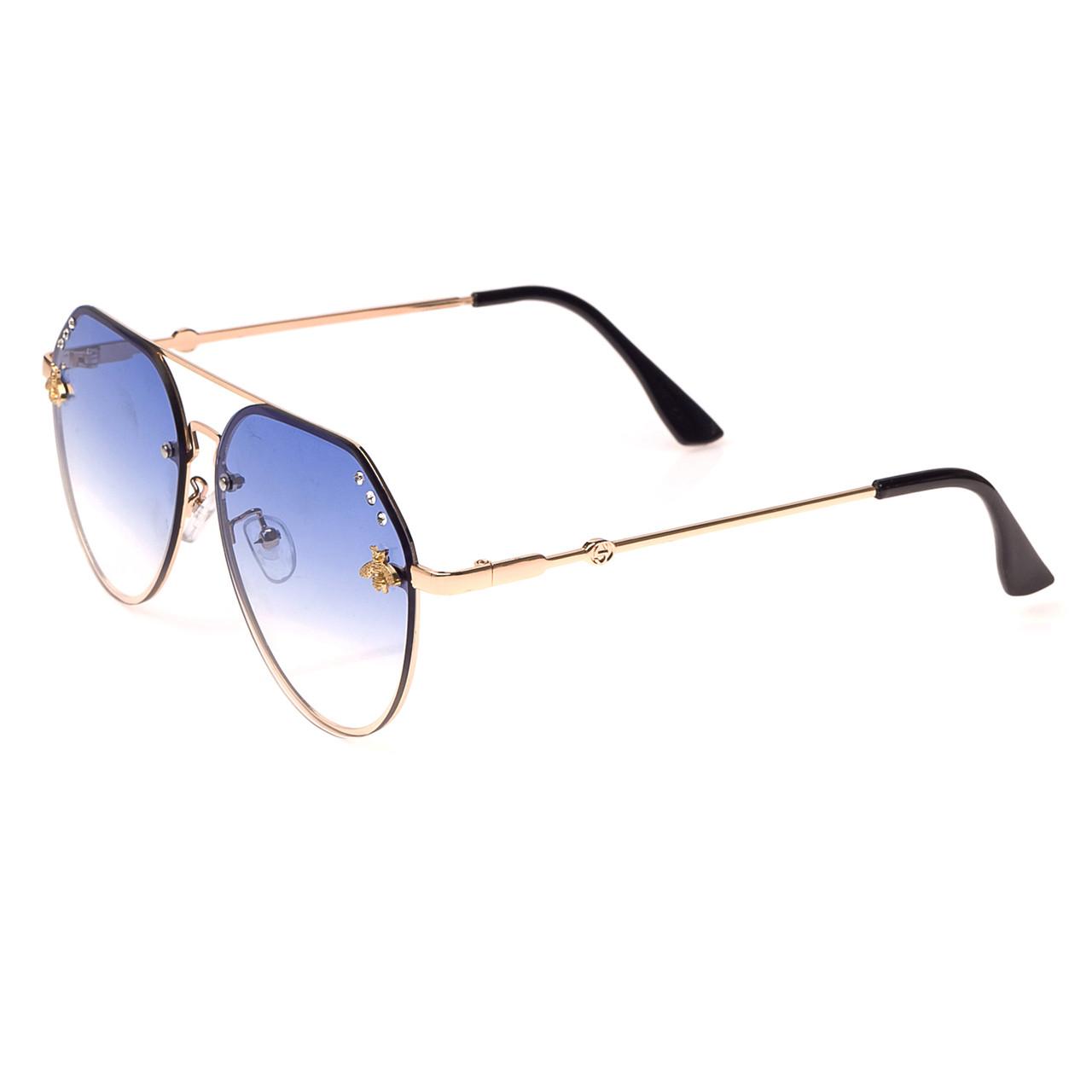 Солнцезащитные очки  Женские цвет Разноцветный      оправа-сплав металлов, линза-поликарбонат ( 1870 С6 )
