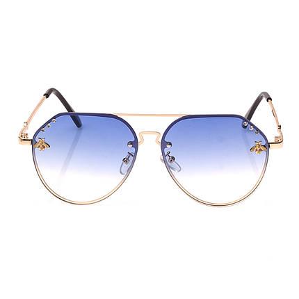 Солнцезащитные очки  Женские цвет Разноцветный      оправа-сплав металлов, линза-поликарбонат ( 1870 С6 ), фото 2