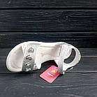 Открытые серебряные босоножки на липучках от Том. М девочкам, р. 34, стелька 21,8 см, фото 3