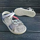Открытые серебряные босоножки на липучках от Том. М девочкам, р. 34, стелька 21,8 см, фото 4