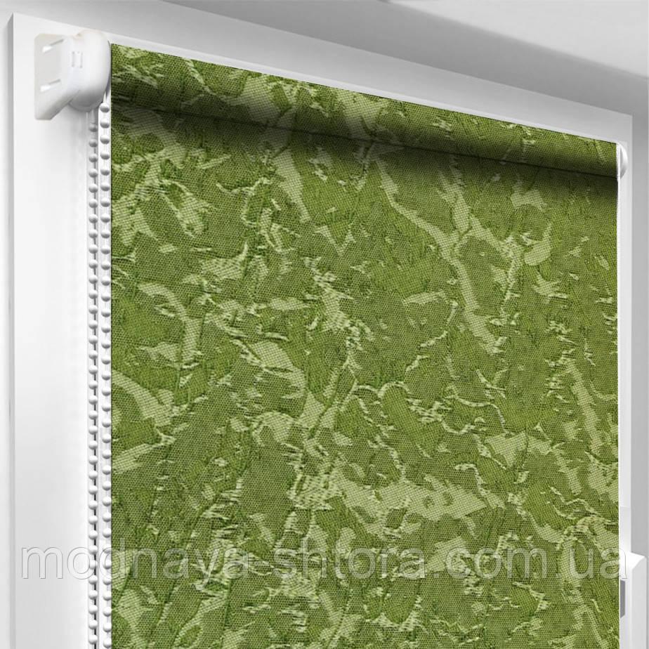 """Тканинні рулонні штори """"Oasis"""" венеція (зелений), РОЗМІР 42,5х170 см"""
