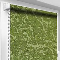 """Тканевые рулонные шторы """"Oasis"""" венеция (зеленый), РАЗМЕР 42,5х170 см, фото 1"""