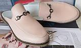 Мюли .! Сабо на низком ходу с закрытым носком Шлепанцы цвет белый, фото 7