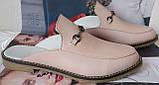 Мюли .! Сабо на низком ходу с закрытым носком Шлепанцы цвет белый, фото 9
