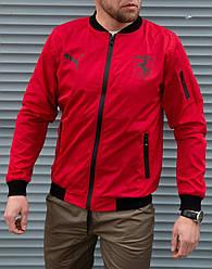 Мужская красная ветровка Puma Ferrari без капюшона