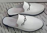 Мюли .! Сабо на низком ходу с закрытым носком Шлепанцы цвет белый, фото 3