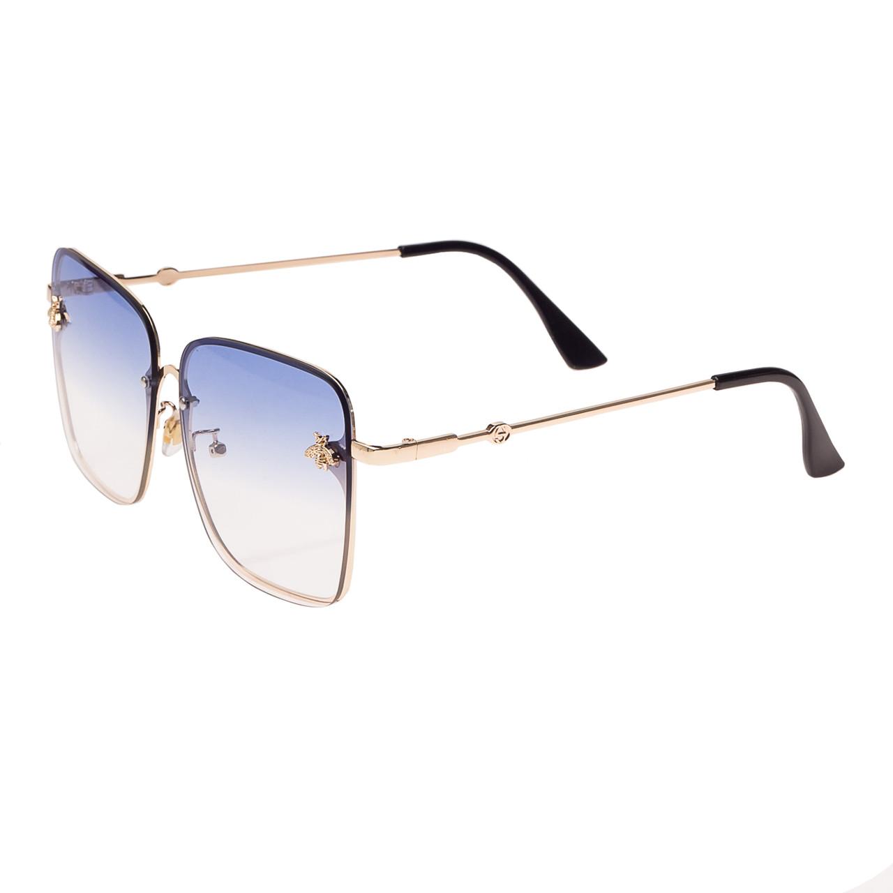 Солнцезащитные очки  Женские цвет Разноцветный      оправа-сплав металлов, линза-поликарбонат ( 1843 С4 )