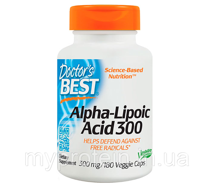 Doctor's BEST Альфа-липоевая кислота Alpha-Lipoic Acid 300180 veg caps