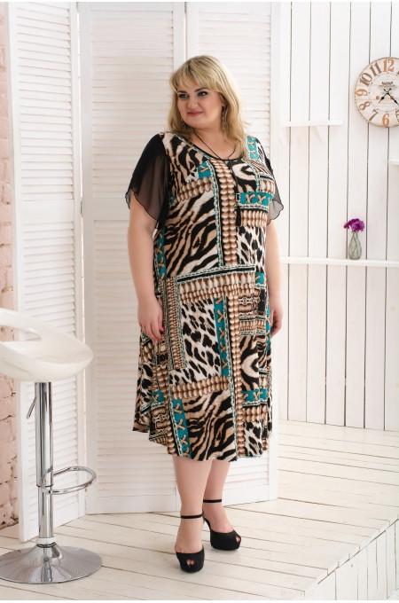Платье женское  Аркадия коричневый