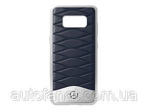 Оригинальный кожаный чехол Mercedes для Samsung Galaxy S8, Blue (B66958604)