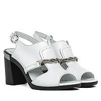 Босоножки женские ESTOMOD (кожаные, на каблуке, изысканные)
