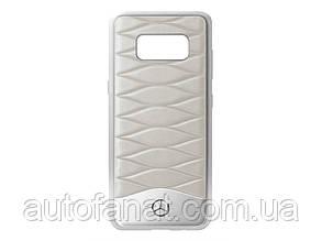 Оригинальный кожаный чехол Mercedes для Samsung Galaxy S8, Grey (B66958605)