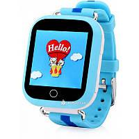 Детские смарт часы с GPS трекером  SmartWatch TD-02 (Q100) GPS-Tracking Wifi Watch Blue Акция -40%!