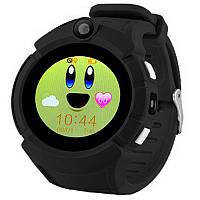 Детские смарт часы с GPS трекером  UWatch Q610 Kid wifi gps smart watch Black Акция -16%!