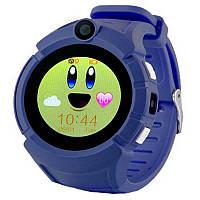 Детские смарт часы с GPS трекером  UWatch Q610 Kid wifi gps smart watch Dark-blue Акция -16%!