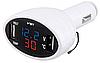 Многофункциональные автомобильные электронные часы VST 708-1 | термометр вольтметр | автомочасы