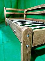 Кровать односпальная детская деревянная 90\190  Дуб скидка 30%