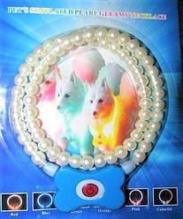 Світиться нашийник для собак у вигляді перлин Pet'a s simulated pearl gleamy necklage / 185 мм