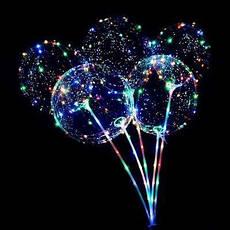 Світиться повітряна куля на паличці | надувний кулька зі світлодіодами BoBo Balloon
